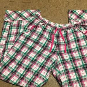 Women's Victoria's Secret plaid pajama bottoms